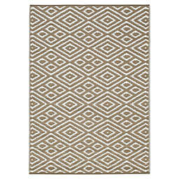 Zanzibar Indoor/Outdoor Patio Mat in Brown/White