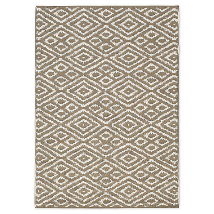 Zanzibar Indoor Outdoor Patio Mat In Brown White Bed Bath Beyond