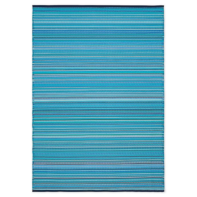 Alternate image 1 for Bali Indoor/Outdoor Patio Mat in Blue