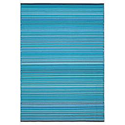 Bali 6' x 9' Indoor/Outdoor Patio Mat in Blue