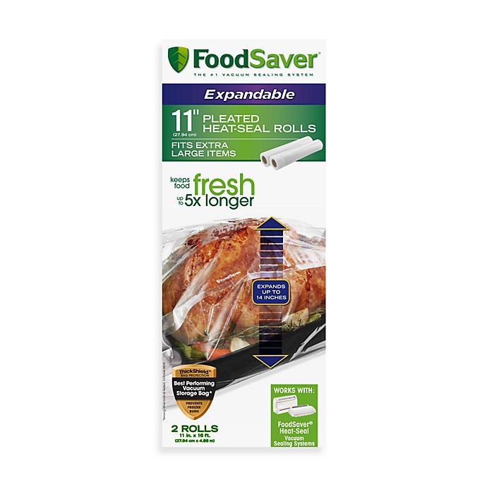 Alternate image 1 for FoodSaver® 2-Roll Pack Expandable Pleated Heat-Seal Rolls