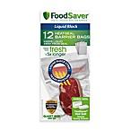 FoodSaver® qt. Size 12-Bag Pack Liquid Block Heat-Seal Barrier Bags