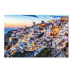 "Colossal Images    ""Sunset Santorini"" Canvas Wall Art"