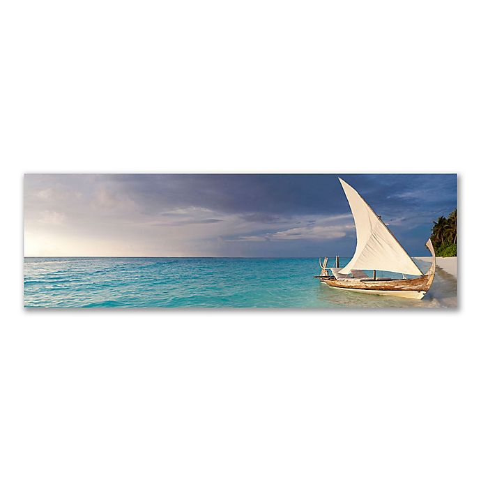 Alternate image 1 for Christopher Knight Collection® Your Boat Awaits You 18-Inch x 58-Inch Canvas Wall Art
