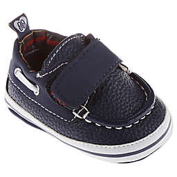 Stepping Stones Boat Shoes with Textured Straps in Navy
