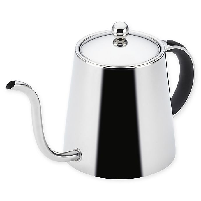 Alternate image 1 for BonJour® 23 oz. Stainless Steel Pour Over Teapot