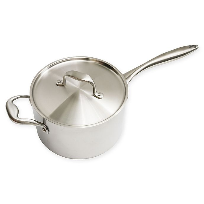 Alternate image 1 for Christopher Kimball by 1919 4 qt. Stainless Steel Covered Saucepan
