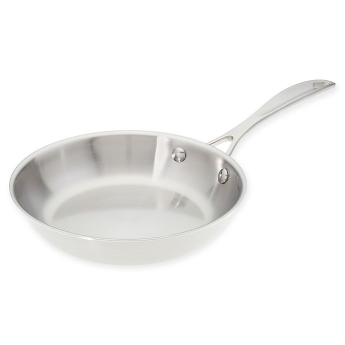 Alternate image 1 for American Kitchen® 8-Inch Tri-Ply Stainless Steel Skillet