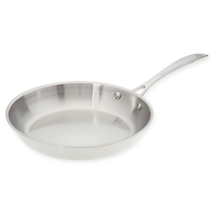 Alternate image 1 for American Kitchen® 10-Inch Tri-Ply Stainless Steel Skillet