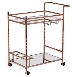 Southern Enterprises Ivers Mirrored Metal Bar Cart