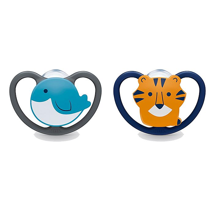 Alternate image 1 for NUK® Space™ 2-Pack 6-18M Koala/Tiger Orthodontic Pacifiers