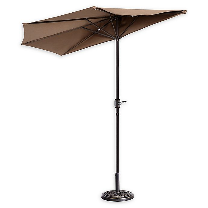 Alternate image 1 for Villacera 9-Foot Half Patio Umbrella