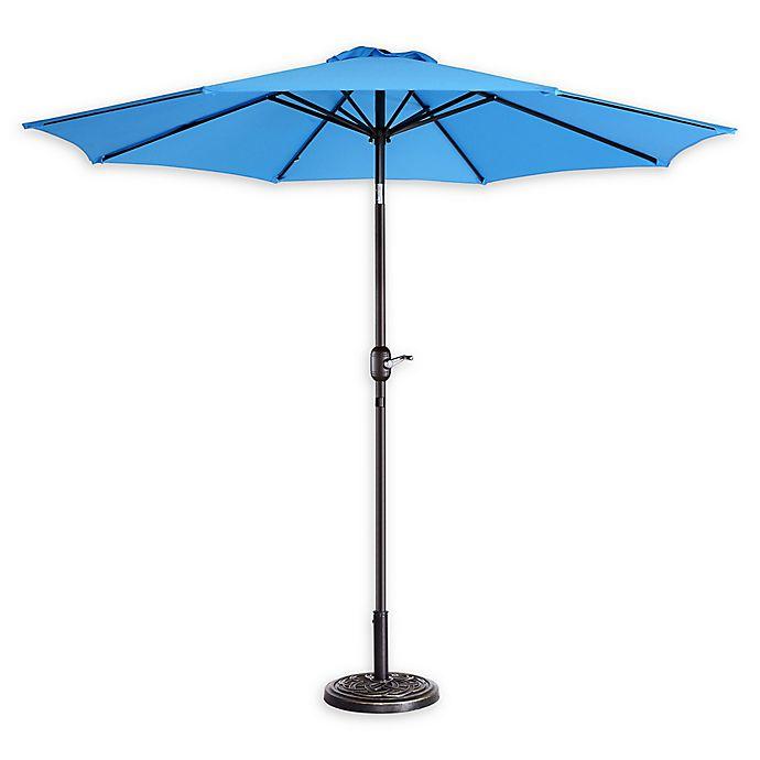 Alternate image 1 for Villacera 9-Foot Patio Umbrella in Blue