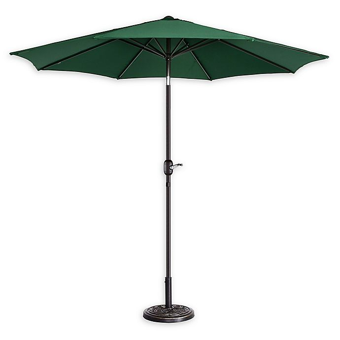 Alternate image 1 for Villacera 9-Foot Patio Umbrella in Forest Green
