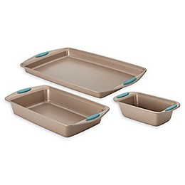Rachael Ray™ Cucina Nonstick Bakeware Collection in Latte Brown/Agave Blue
