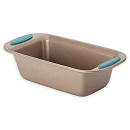 Rachael Ray™ Cucina Nonstick 9-Inch x 5-Inch Loaf Pan in Latte Brown/Agave Blue