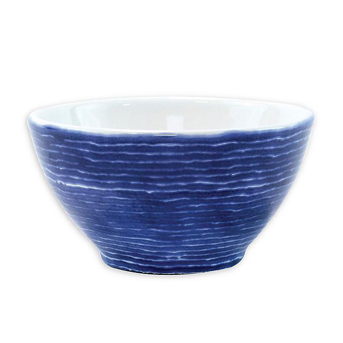 Alternate image 1 for viva by VIETRI Santorini Stripe Cereal Bowl