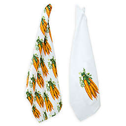Boston International 2-Piece Carrot Farm Tea Towels Set