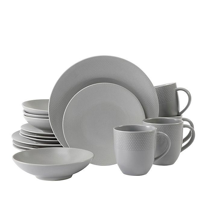 Alternate image 1 for Neil Lane™ by Fortessa® Trilliant 16-Piece Dinnerware Set in Stone