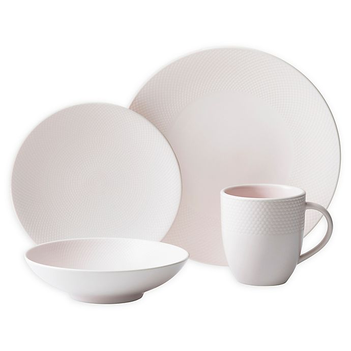 Alternate image 1 for Neil Lane™ by Fortessa® Trilliant 4-Piece Place Setting in Blush