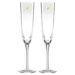kate spade new york Two Hearts™ Champagne Flutes (Set of 2)