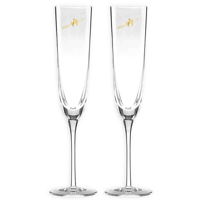 81b022ce3ce kate spade new york Two Hearts™ Champagne Flutes (Set of 2) | Bed ...