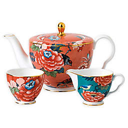 Wedgwood® Paeonia Blush 3-Piece Tea Set
