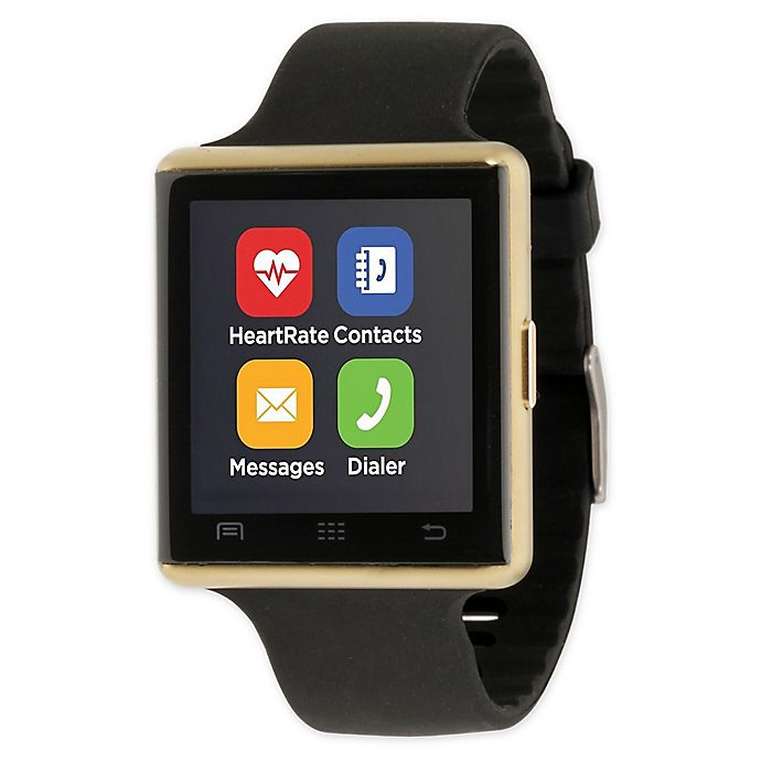Alternate image 1 for iTOUCH 41MM Air 2 Smart Watch in Black/Gold