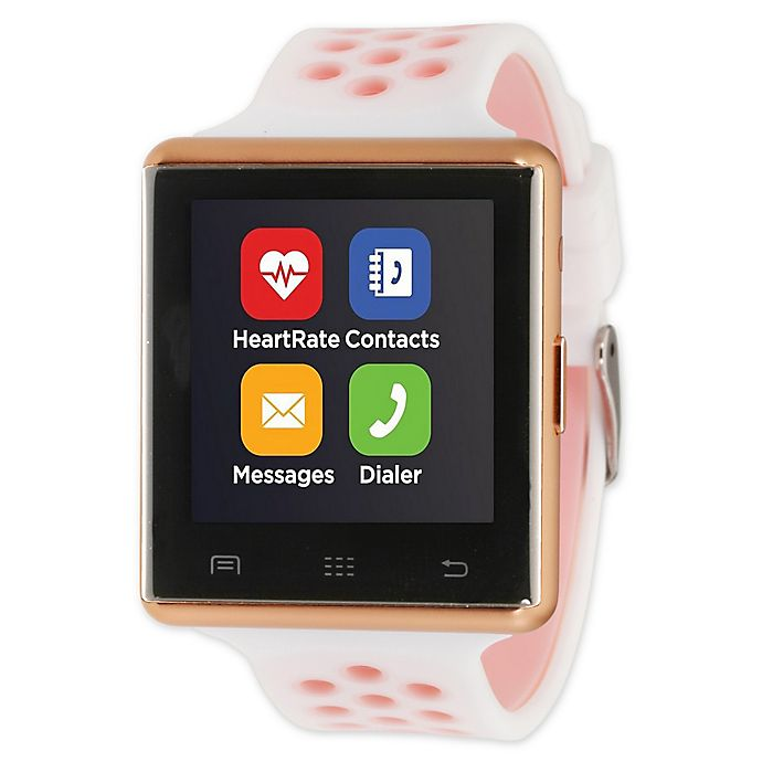 Alternate image 1 for iTOUCH 41MM Air 2 Smart Watch in White/Rose Gold