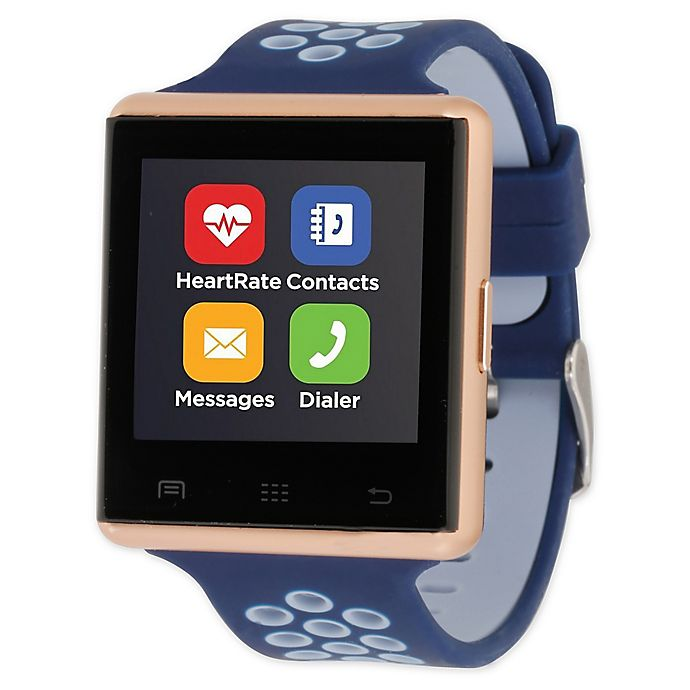 Alternate image 1 for iTOUCH 41MM Air 2 Smart Watch in Navy/Rose Gold