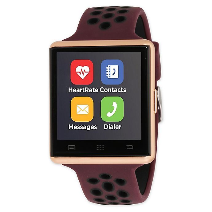 Alternate image 1 for iTOUCH 41MM Air 2 Smart Watch in Rose Gold/Black