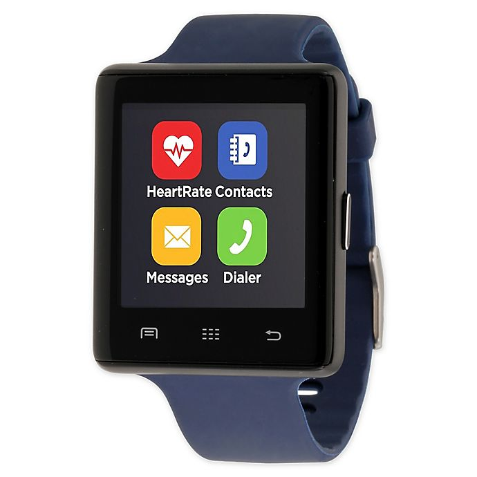 Alternate image 1 for iTOUCH 45MM Air 2 Smart Watch in Navy/Black