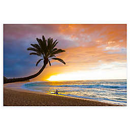 Colossal Images    Sunset Beach Canvas Wall Art