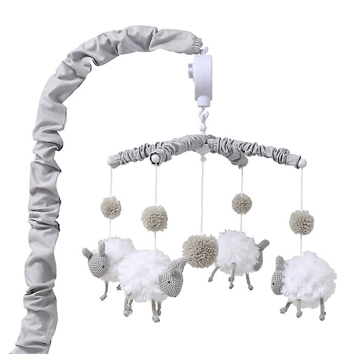 Alternate image 1 for The Peanutshell™ Farmhouse Sheep Musical Mobile in Grey