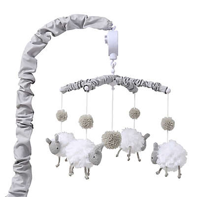 The Peanutshell™ Farmhouse Sheep Musical Mobile in Grey