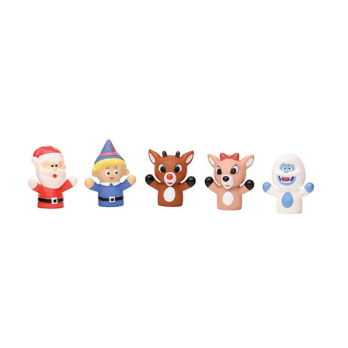 Alternate image 1 for Rudolph the Red-Nosed Reindeer 5-Piece Finger Puppet Set