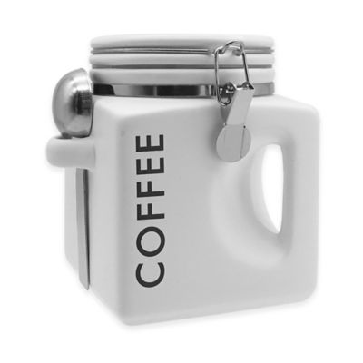 Oggi Ez Grip 40 Oz Quot Coffee Quot Ceramic Canister Bed Bath