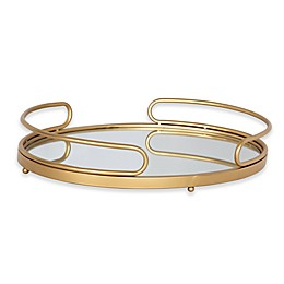 Kate and Laurel Jupiter Oval Mirrored Tray