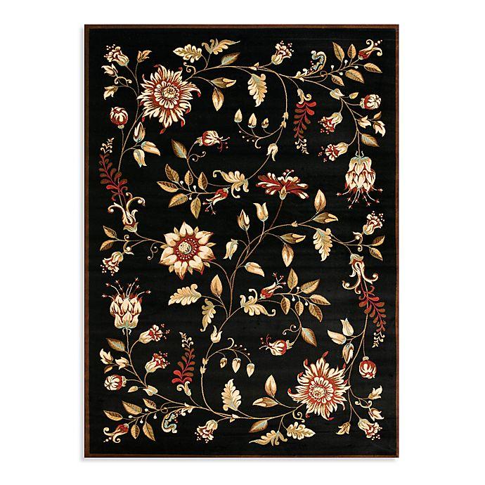 Alternate image 1 for Safavieh Lyndhurst Flower & Vine 5'3 x 7'6 Area Rug in Black