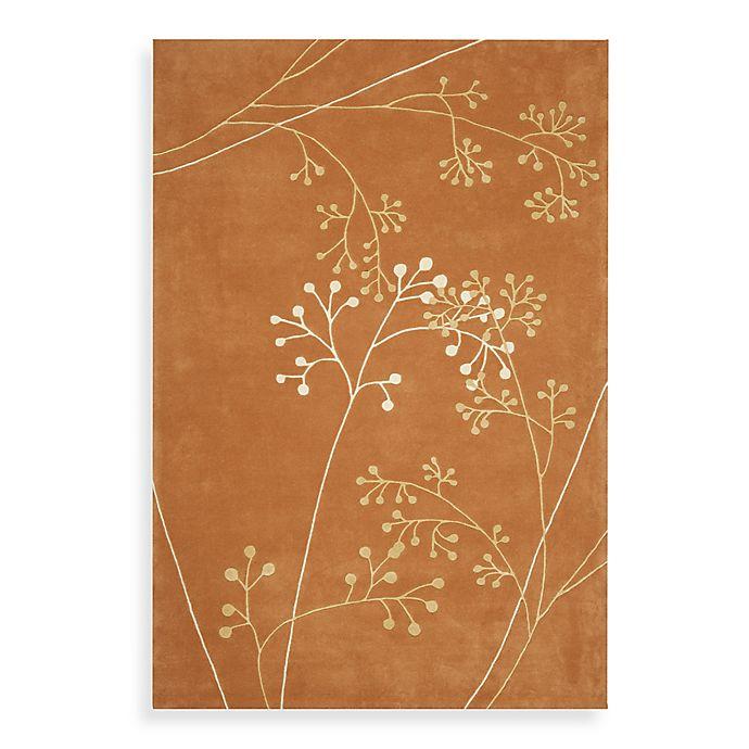 Alternate image 1 for Safavieh Soho Botanical Wool Area Rug in Rust