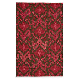Nourison Siam Hand Tufted Area Rug in Brown/Red