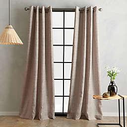 Bedeck Juma Solid 108-Inch Grommet Window Curtain Panel in Linen