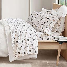 Intelligent Design Cats Cozy Flannel Sheet Set