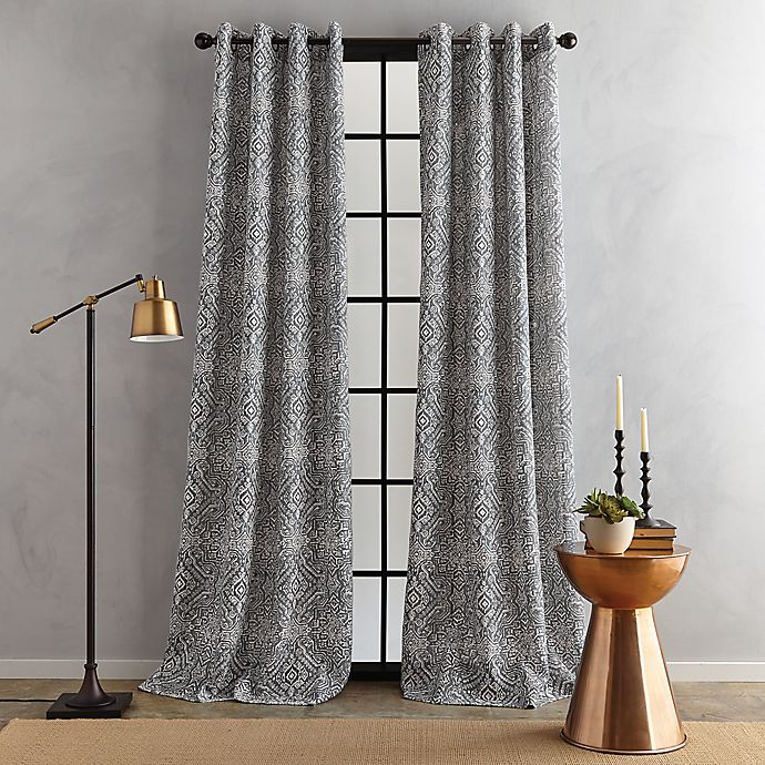 Alternate image 1 for Bedeck Juma Print Grommet Window Curtain Panel