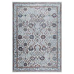 "Home Dynamix Kenmare by Nicole Miller Bordered 9'2"" x 12'5"" Area Rug in Grey/Purple"