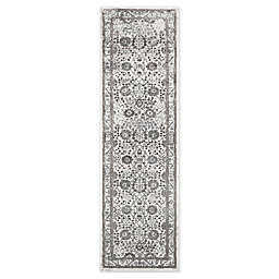 """Home Dynamix Kenmare by Nicole Miller Bordered 2'2"""" x 7'2"""" Runner in Grey/Purple"""