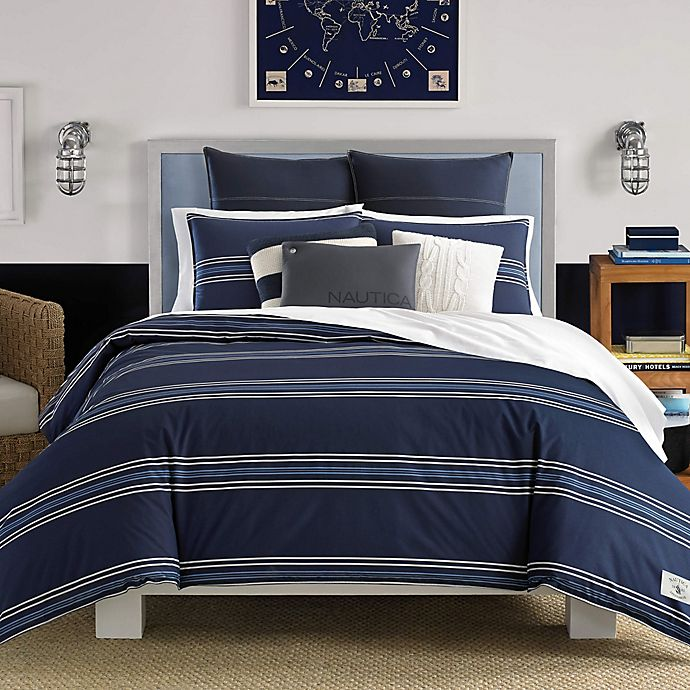 Alternate image 1 for Nautica® Acton Full/Queen Comforter Set in Navy