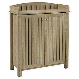 Brassex Inc Shoe Cabinet in Taupe