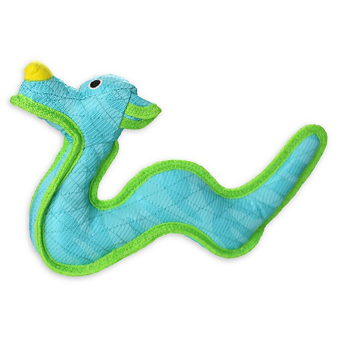 Alternate image 1 for DuraForce Dragon Dog Toy in Blue/Green