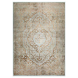 "Home Dynamix Kenmare by Nicole Miller Medallion 5'3"" x 7'2"" Area Rug in Grey/Yellow"